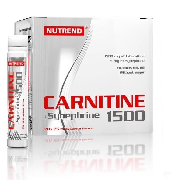 Nutrend CARNITINE 1500 + Synephrine 20 x 25 ml. grapefruit