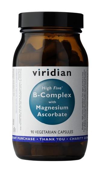 VIRIDIAN nutrition High B5 Complex + vitamin C 90 kapslí