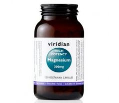 VIRIDIAN nutrition High potency Magnesium 300 mg 120 kapslí